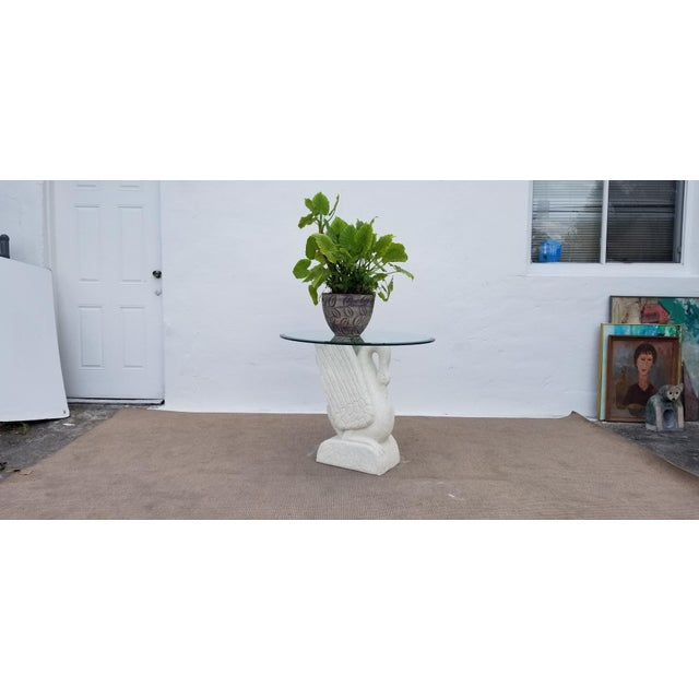 Sculptural Swan Shape Plaster Accent Table For Sale - Image 10 of 12