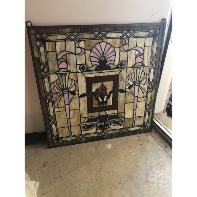 Stained Glass Panels - Set of 3 For Sale - Image 4 of 6