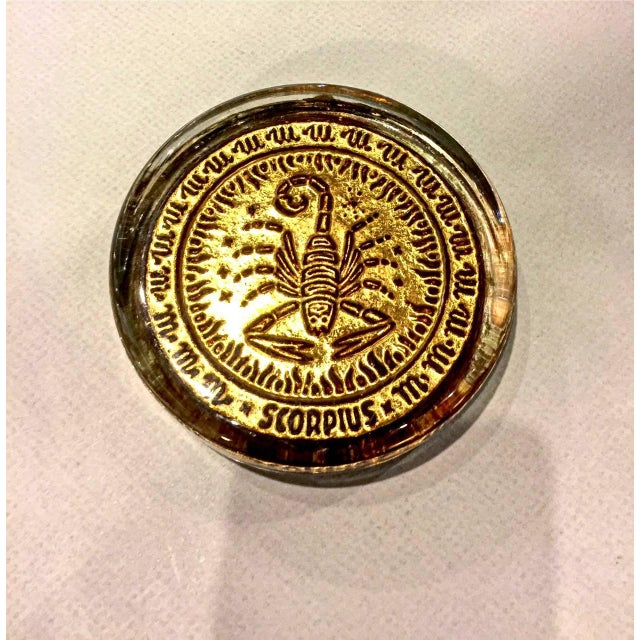 Mid-Century Modern Mid-20th Century Venetian Zodiac Paperweights For Sale - Image 3 of 9