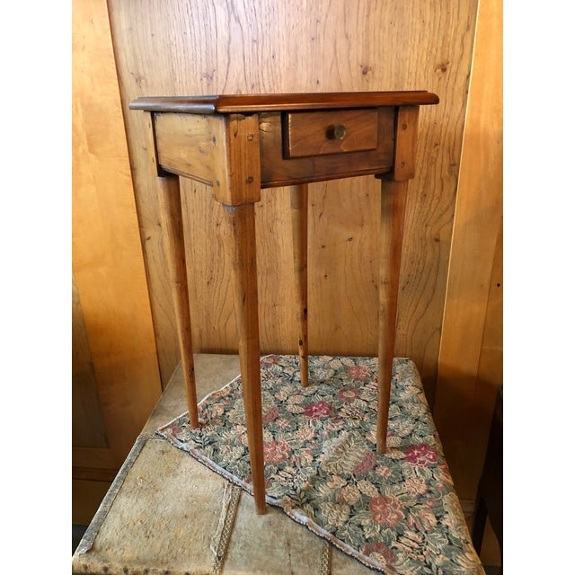 1800 French Fruitwood Petite One Drawer Side Table For Sale - Image 9 of 9