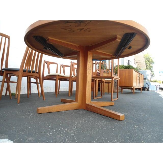 Danish Modern Heltborg Mobler Extendable Dining Table - Image 3 of 11