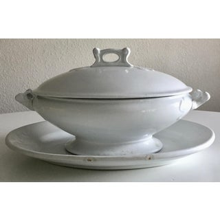 Antique English Ironstone Tureen & Meakin Platter Preview