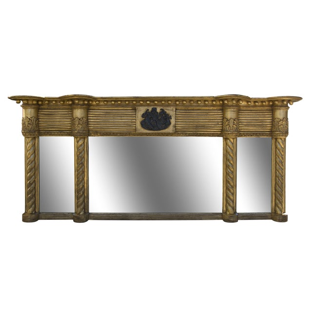 Antique Early 19th Century Mantel Mirror - Image 1 of 8