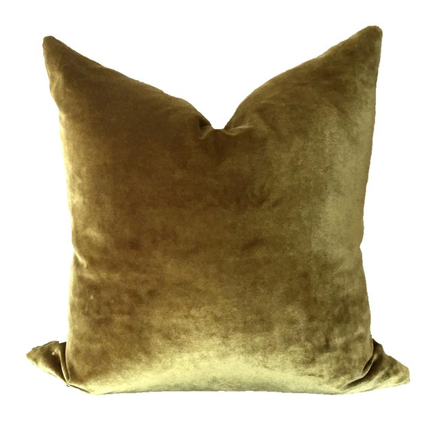 Contemporary Two-Tone Green Pillow For Sale - Image 3 of 4
