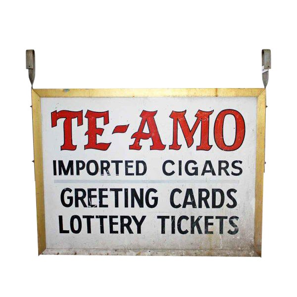 'Te-Amo' Metal Shop Sign For Sale