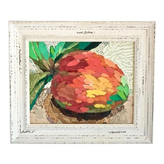 Mango Still Life Acrylic Collage Painting For Sale