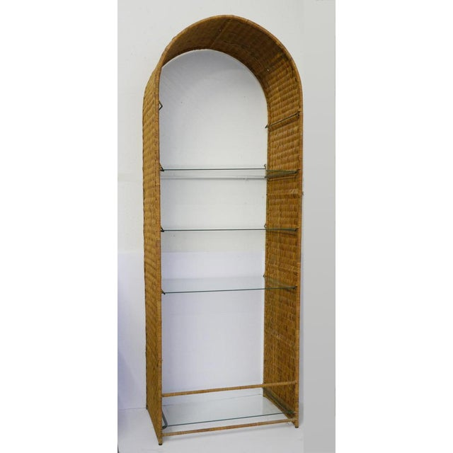 Vintage Rattan Etagere by Danny Ho Fong For Sale - Image 10 of 10