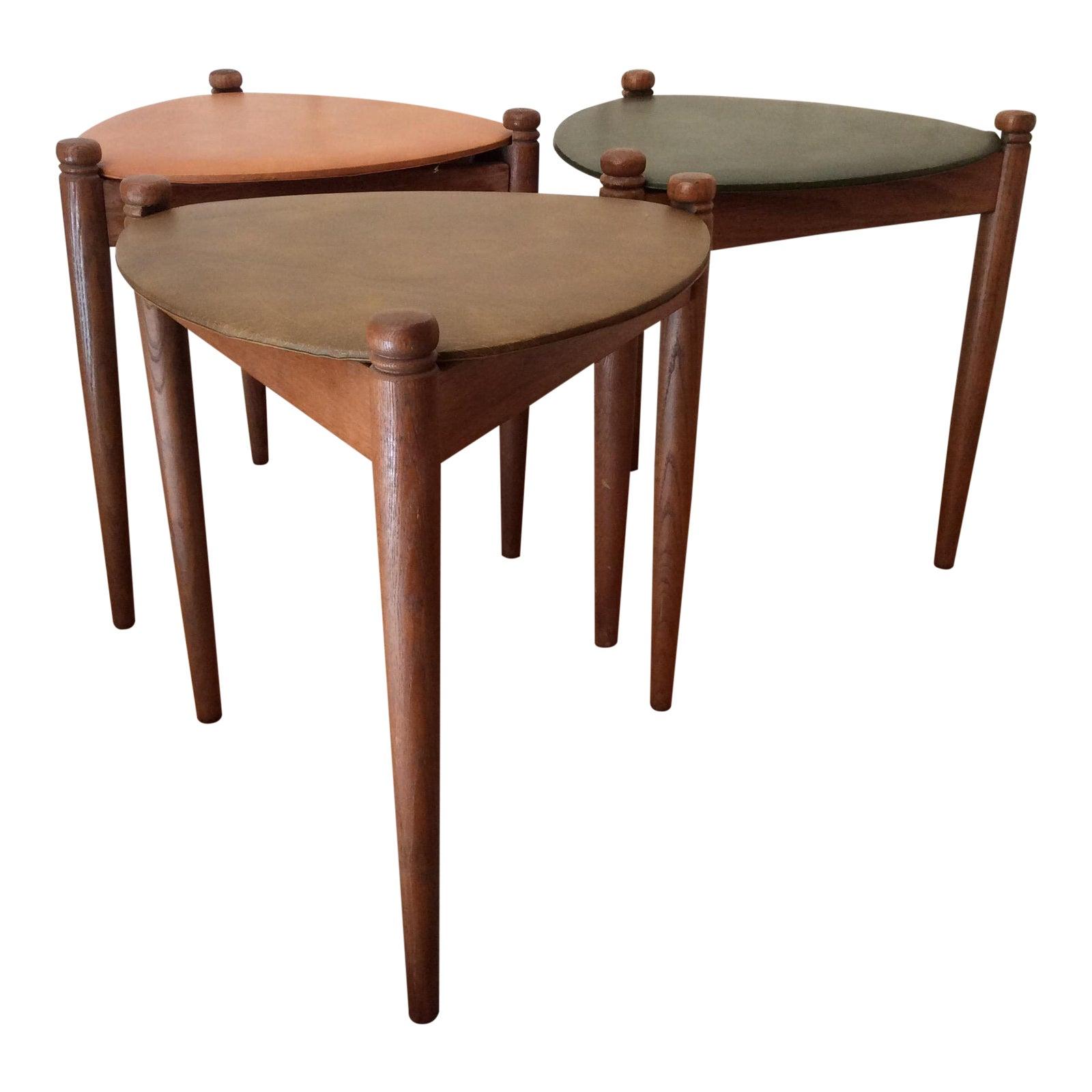 Lu Van, Inc Mid Century Modern Guitar Pick Nesting Tables