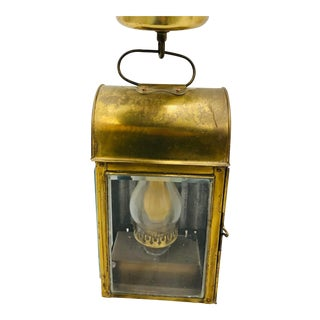 Antique Brass Lantern For Sale