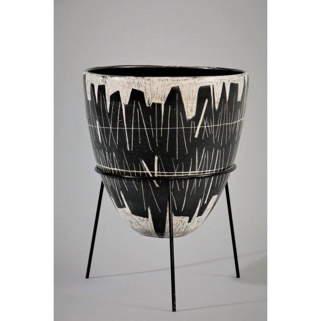 Mid-Century Modern Victor Cerrato Glazed Ceramic Vase For Sale - Image 3 of 3