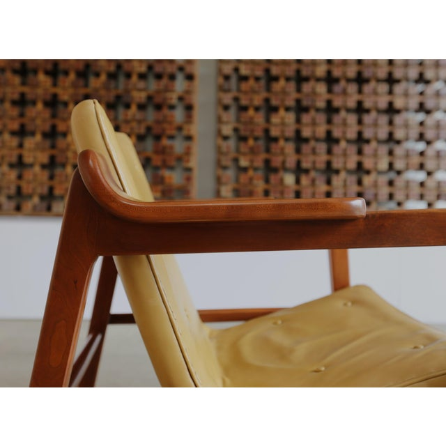 """MId Century Tove & Edvard Kindt Larsen """"Fireplace"""" Chair For Sale In Los Angeles - Image 6 of 8"""