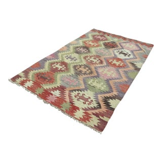 "Vintage Antalya Nomads Kilim Rug-5'8'x9'3"" For Sale"