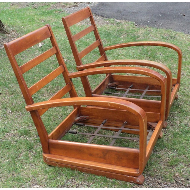 Mid-Century Club Chairs - A Pair - Image 10 of 11