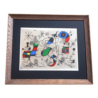 Vintage Mid 20th C. Ltd. Ed. Lithograph-Joan Miro-For Derriere Le Miroir-Folio-1967 For Sale