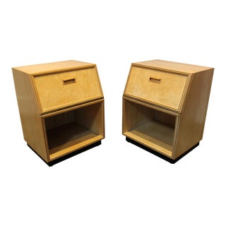 Henredon Scene Two Modern Nightstands After Milo Baughman -A Pair For Sale