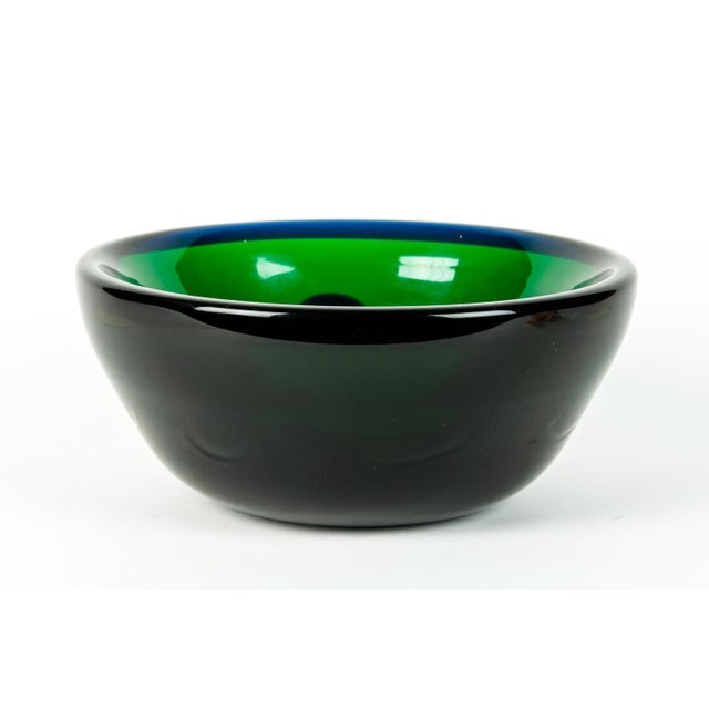 Mid 20th Century Mid Century Art Deco Style Murano Deco Bowl For Sale - Image 5 of 7