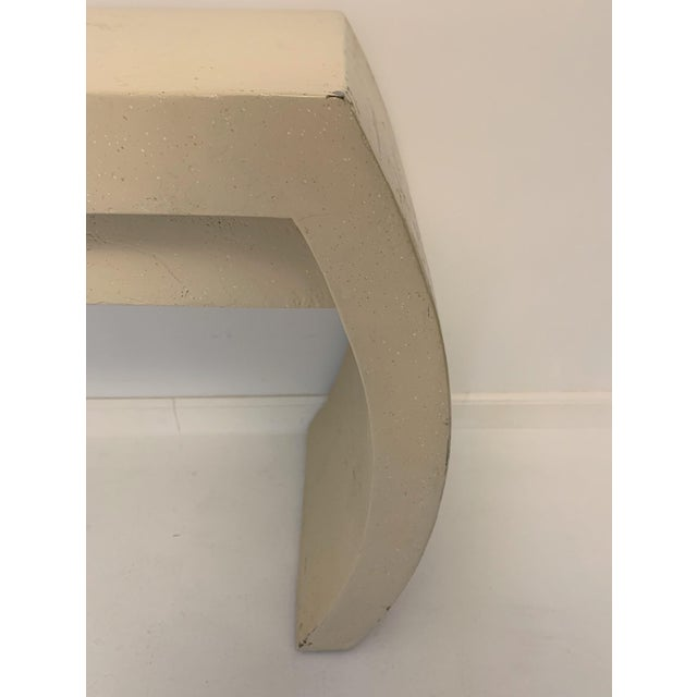 1980s Contemporary Waterfall Plaster Console Table With Drawer For Sale - Image 9 of 11