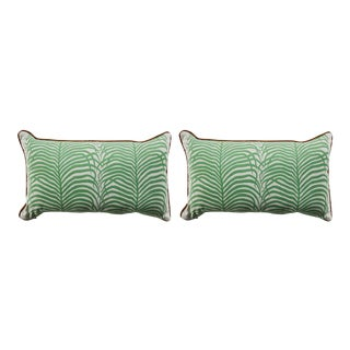 Summer Classics Summer Sulu Indoor or Outdoor Pillow in Green 14X24 - a Pair For Sale