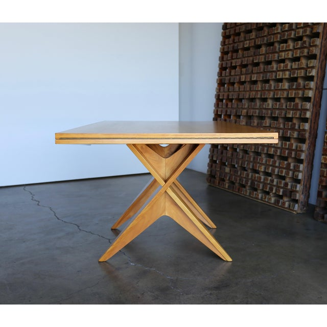Drop-leaf dining table by Dan Johnson for Hayden Hall Furniture, circa 1947. A beautiful example of California modern...