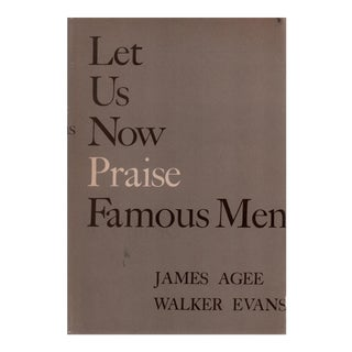 "1960 ""Let Us Now Praise Famous Men"" Collectible Book For Sale"