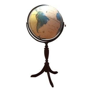George Cram Classica Illuminated Pedestal Globe