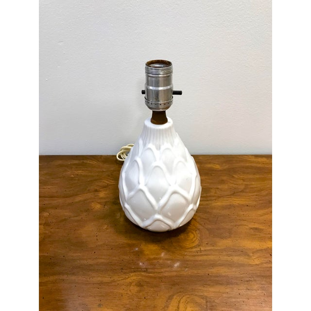 Mid-century modern ceramic Artichoke shaped table lamp. This wonderfully whimsical table lamp is perfect for your bedside...
