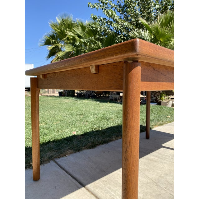 1950s 1950s Mid-Century Modern Teak Dining Table For Sale - Image 5 of 9
