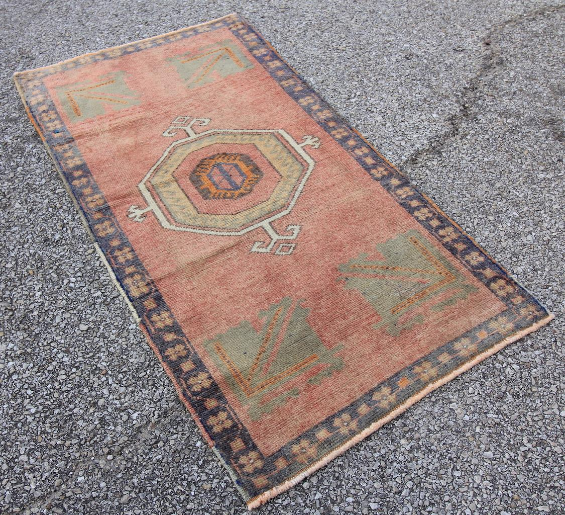 Mid 20th C Vintage Antique Tribal Oushak Hand Knotted