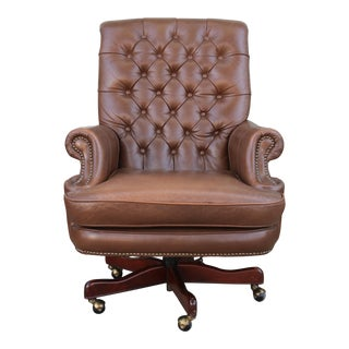 Bradington Young Executive Leather Chair For Sale