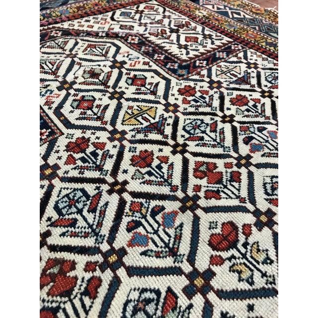"""Caucasian Marasali Shirvan Prayer Rug Circa: 1890 Origin: Cacasus US Size: 3 ' 6 """" x 4 ' 9 """" Metric Size: 1.10 x 1.45 meters"""