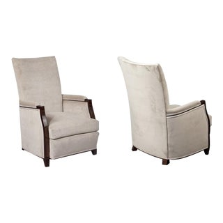 Pair of French Upholstered Bergères For Sale
