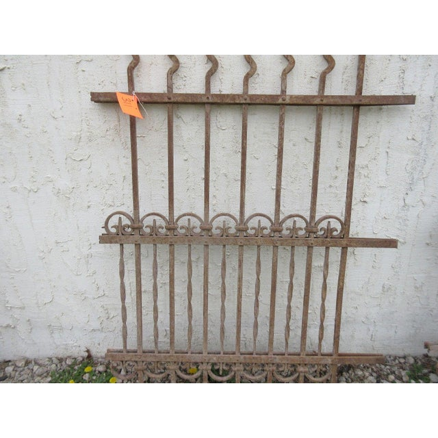 Antique Victorian Iron Gate Architectural Salvage Door For Sale - Image 5 of 7