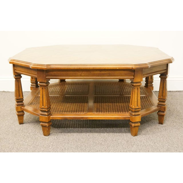 Wood Late 20th Century Vintage Mersman Rustic Country Octagonal Coffee Table For Sale - Image 7 of 10