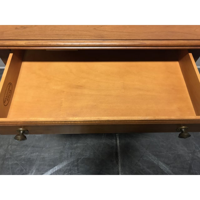 Metal Pennsylvania House Cherry Queen Anne Diminutive Lowboy Chest Nightstand For Sale - Image 7 of 11
