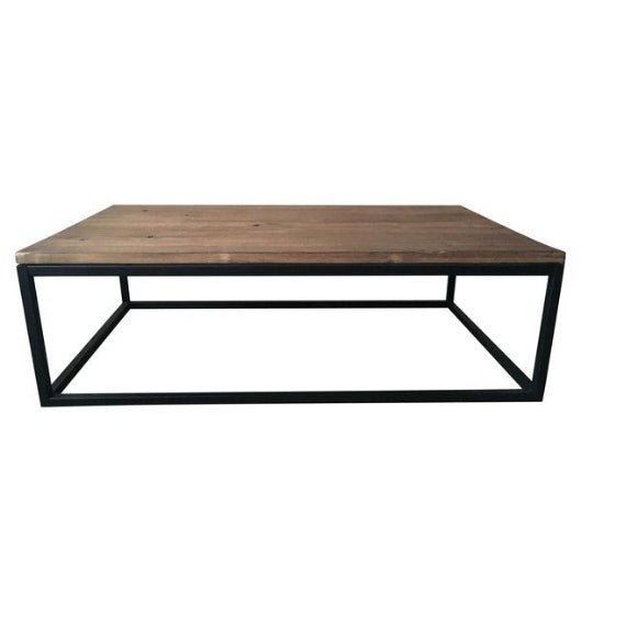 ABC Carpet & Home Wood and Steel Coffee Table - Image 6 of 8