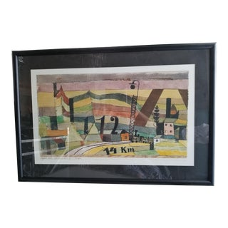 Early Cubist Art Deco Large European Artwork