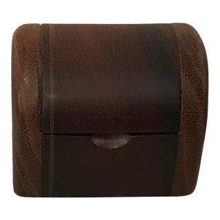 Vintage Hand Made Walnut Trinket Box For Sale