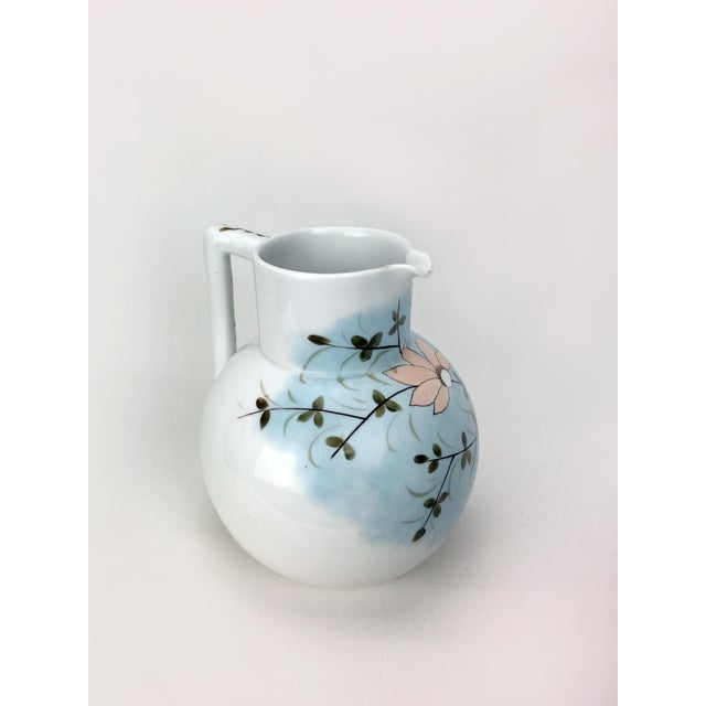 RS Prussia Pastel Floral Vintage Pitcher For Sale - Image 4 of 6
