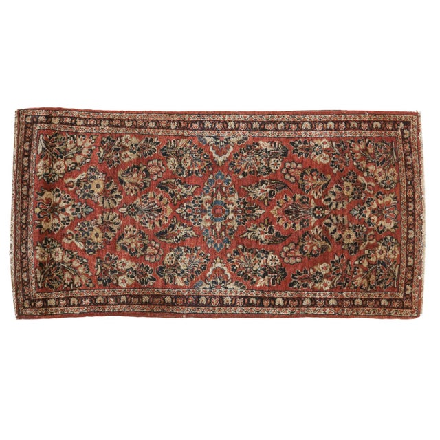 "Vintage American Sarouk Rug Runner - 2'2"" X 4'2"" For Sale - Image 11 of 11"