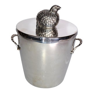 Silverplate De Uberti Ice Bucket For Sale