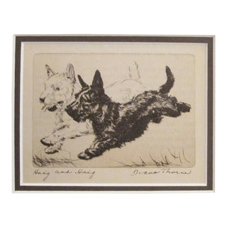 "1936 American Diana Thorne Dog Portrait, ""Haig and Haig"""