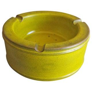 Midcentury Danish Green Pottery Ashtray
