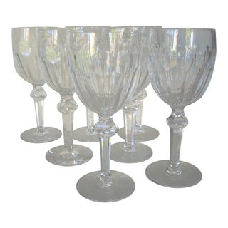 1980s Waterford Crystal Wine Goblets - Set of 7 For Sale