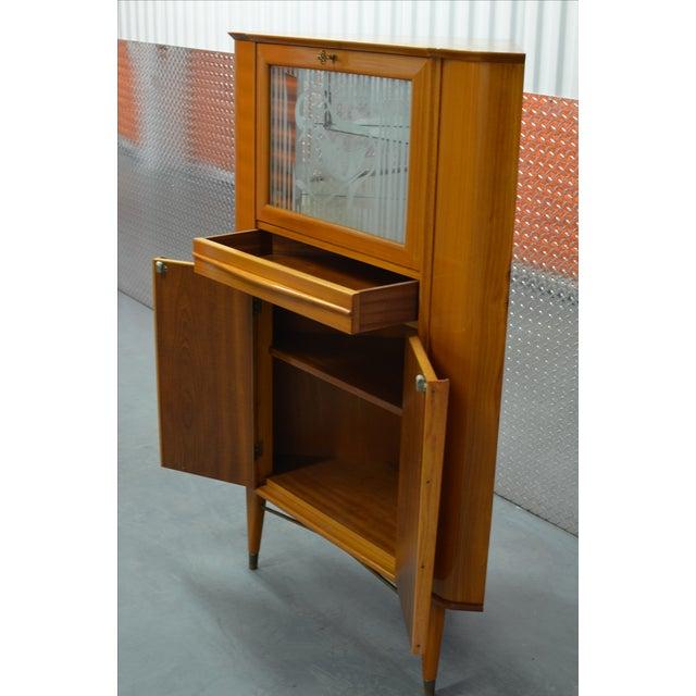 Mid-Century Scandinavian Corner Bar Cabinet For Sale - Image 5 of 7
