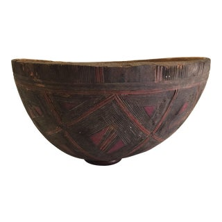 20th Century Tribal Large Carved Bowl For Sale