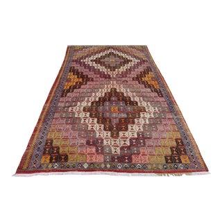 Mid 20th Century Anatolian Kilim Turkish Embroidery Rug For Sale