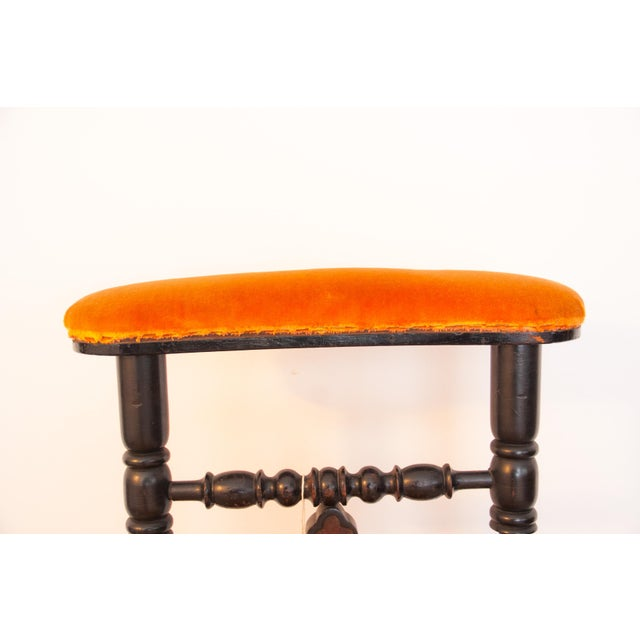 19th Century French Napoleon III Second Empire Prie-Dieu Prayer Chair For Sale - Image 4 of 9