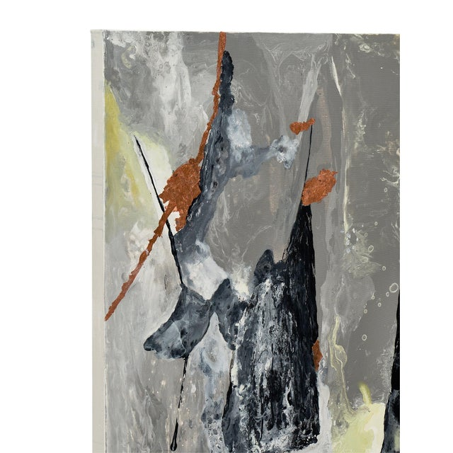 """Canvas Contemporary Abstract Painting """"Copper Field"""" by Ashley Mayel For Sale - Image 7 of 9"""