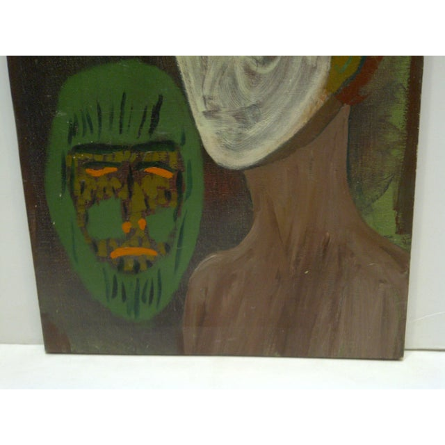 "Original ""The Ghost & the Mask"" Painting - Image 4 of 5"
