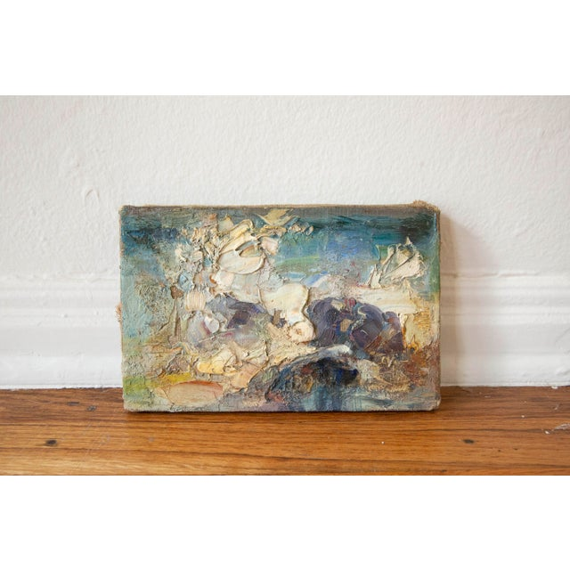 1960s 1969 Vintage Abstract Landscape Oil Painting, Signed Bolha For Sale - Image 5 of 5